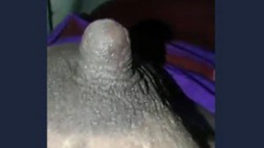 Hubby playing with wife's standing nipple (semi)