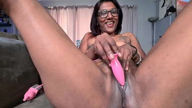 Indian girl trying different toys till orgasm