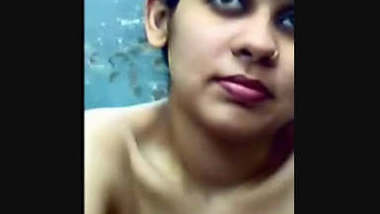 horny colg gal manjula recorded nude & pussy fondled by professor