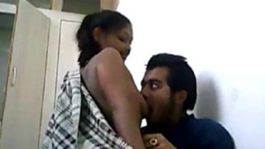 Desi lover sucking gf boobs