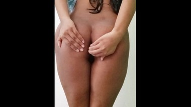 POV college girl showing her sexy body after bath
