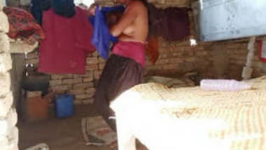 Village girl caught wearing clothes after bath