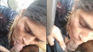 Telegu wife blowjob in a car video MMS
