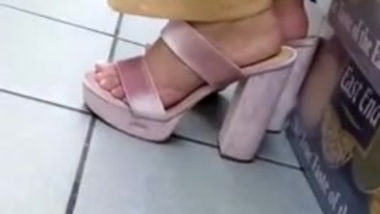 Candid desi high heels feet