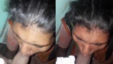 Dehati Adivasi girl giving blowjob to her lover video