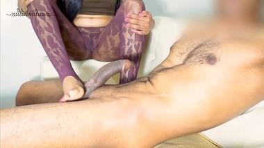 She Gaves Me Awesome Footjob   Very Hot Indian Girlfriend   Very Sexy Girl
